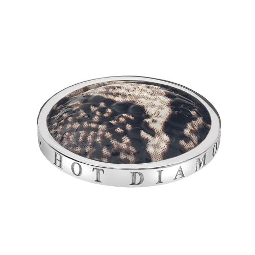 Hot Diamonds Emozioni Silver Plated Stainless Steel Faux Snake Coin - Small 25mm EC096